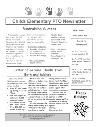 Childs PTO Newsletter