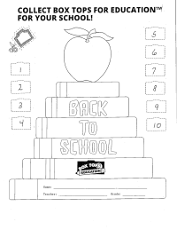 Back to School Collection sheet
