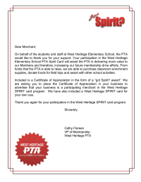 Sample Letter Requesting Donations For School Fundraiser. Membership Drive  Merchant Donation Thank You Letter Fundraiser Forms Letters PTO Today