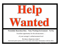 Help Wanted - Chaperone Today!!
