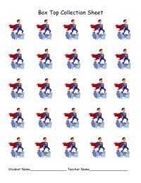 Super Hero Collection Sheet