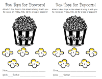 Box Tops for Popcorn