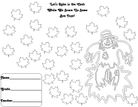 25 count scarecrow collection sheet