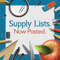 Supply Lists Now Posted Facebook Graphic