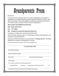 Grandparents Prom