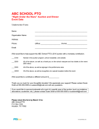 Auctions pto today for Auction program template