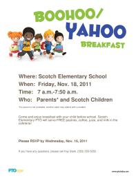 Boohoo/Yahoo Breakfast Poster