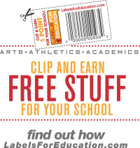 Labels for Education Clip and Earn Logo