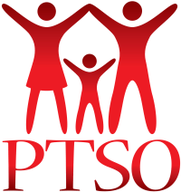 PTSO Logo (red, vertical)