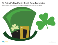 St. Patrick's Day Photo Booth Prop Templates