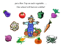 Harvest a Dollar Collection Sheet