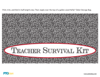 Teacher Survival Kit Baggie Tag