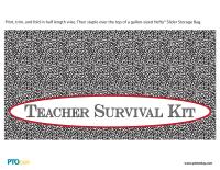 Teacher Survival Kit Baggie Tag