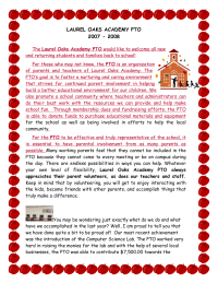 Pta Welcome Letter To Teachers