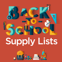 Back to School Supply List Facebook Graphic