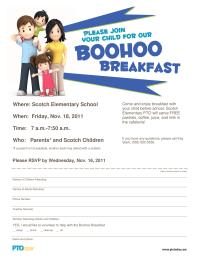 Boohoo Breakfast Invitation