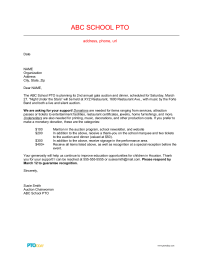 PTO Today: Auction Donation Solicitation Letter 2
