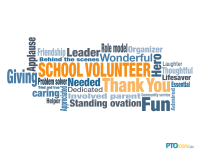 Volunteer Appreciation Word Cloud Poster