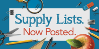 Supply Lists Now Posted Twitter Graphic
