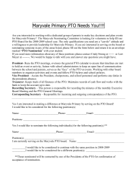 Maryvale Primary PTO Needs You