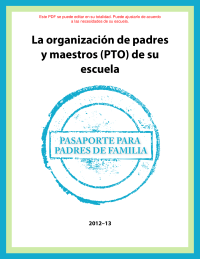 Parent Involvement Passport (Spanish)