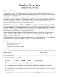 Freedom Elementary School - No Sell Fundraiser