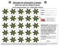 Winter Snowflake Boxtops Collection Sheet