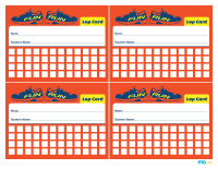 Fun Run Lap Cards