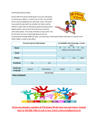 Parent Sign Up Form