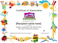 Editable General School Border Collection Certificate