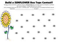 Build a Sunflower Competition
