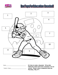 BoxTopsForEducation Baseball  (10 ct)