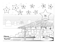 Nativity coloring page for 10 Box Tops