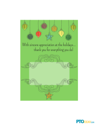 Holiday Gift Card Holder for Teachers