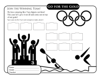 Summer Olympics Collection Sheet
