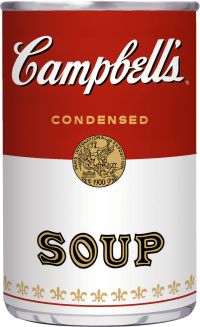 Campbell's Soup Can Graphic - Color