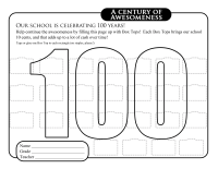 100 years Collection Sheet