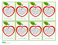 picture regarding Free Printable Teacher Appreciation Gift Tags titled Trainer Appreciation Present Tags - PTO Nowadays