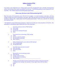 BA PTSO Survey