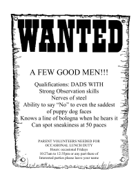 Wanted !!! A Few good DADS!