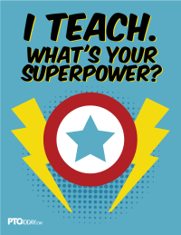 Superhero Teacher Appreciation Poster