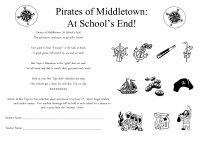 Pirates of Middletown: At School's End! collection sheet