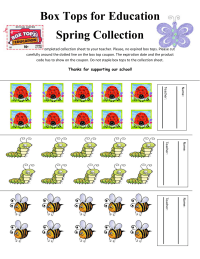 English Version 30 ct. Spring Insect/Bug collection sheet