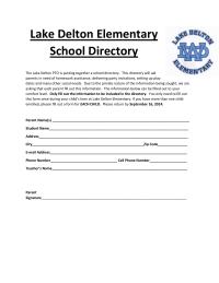 Parent Permission Slip For School Directory