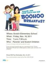 Boohoo Breakfast Poster