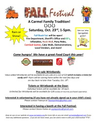 Fall Festival Flyer-also used as page of newsletter
