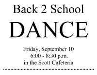 Poster for Back to School Dance