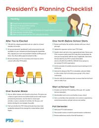 President's Planning Checklist