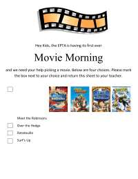 Movie Morning 2008 Vote