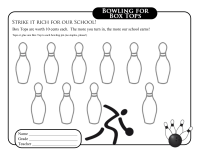 Bowling Collection Sheet
